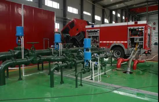 Verification test of hydraulic performance of foam fire truck